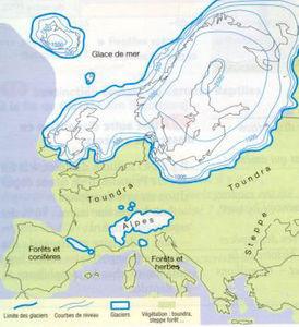 Doba ledová a krajina v Evropě