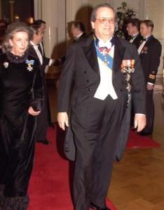 Mediální magnát Aatos Erkko s manželkou